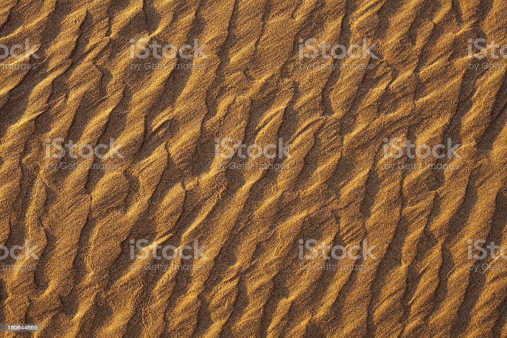 Sand Waves at Sunset royalty-free stock photo