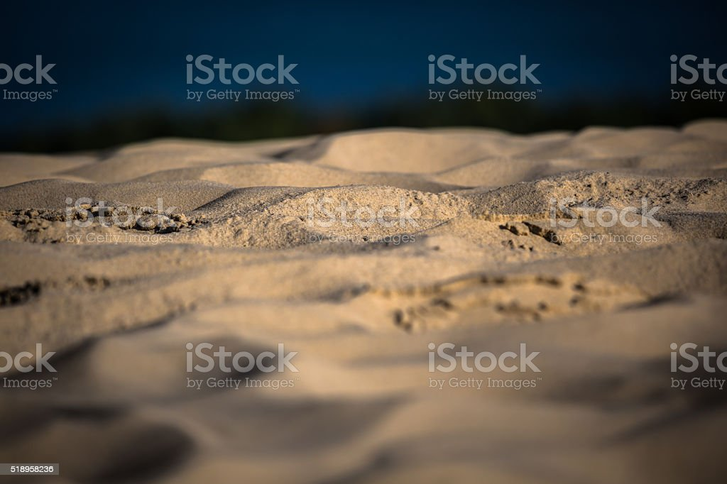Sand waves on the highest dune in Europe - Dune stock photo