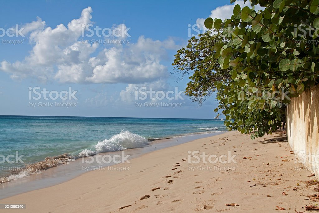 Sand & waves stock photo