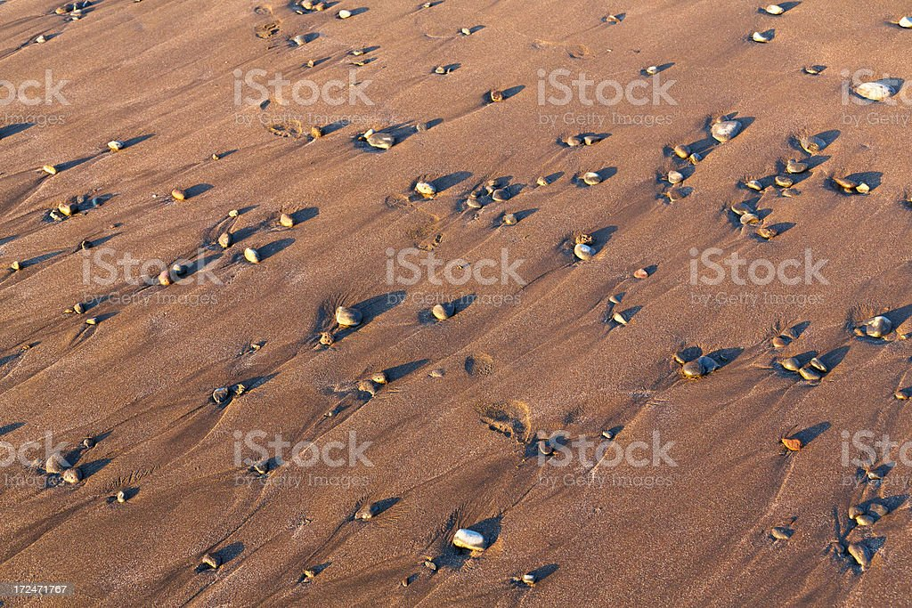 sand with stones royalty-free stock photo