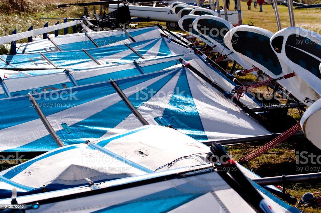 sand yachts stock photo