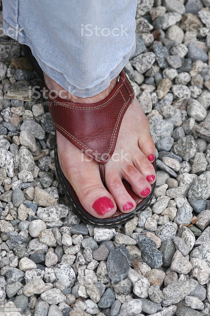 Sandal Foot stock photo