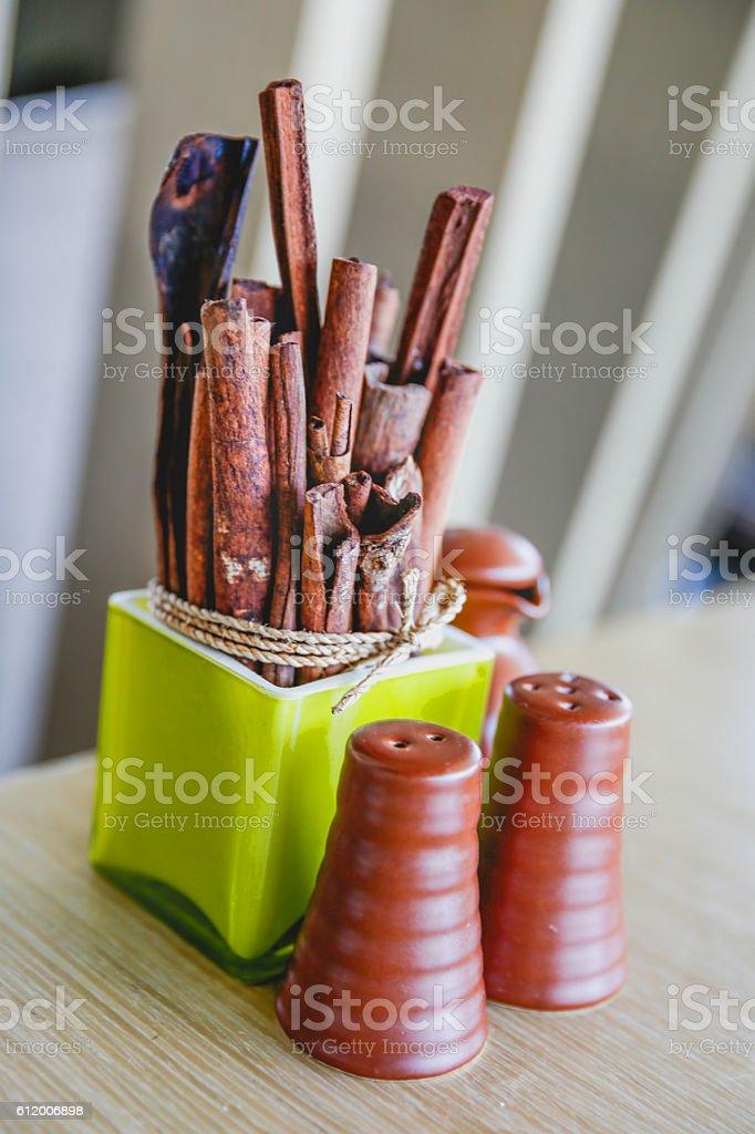 Sandalwood incense stick stock photo