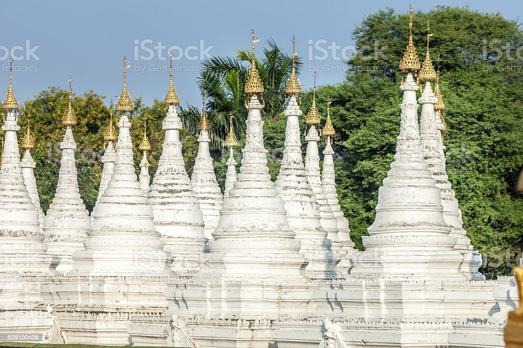 Sandamuni Pagoda stupas, Mandalay stock photo