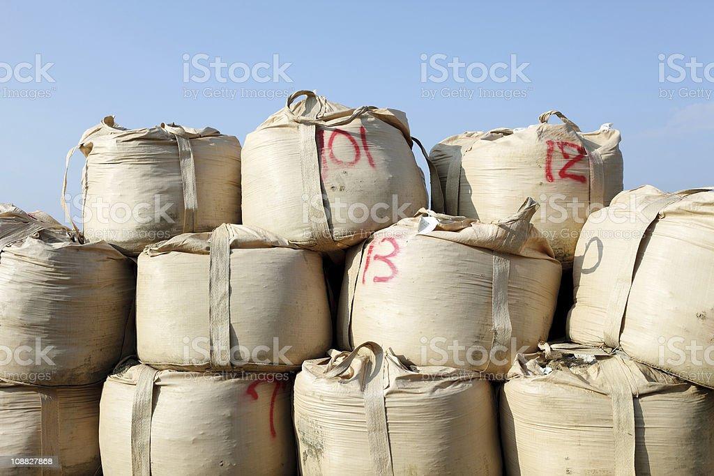 Sandbag stock photo