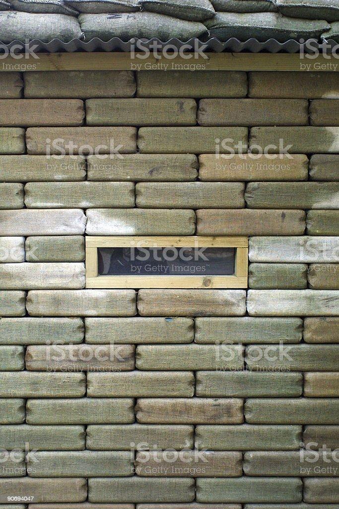Sandbagged Bunker stock photo