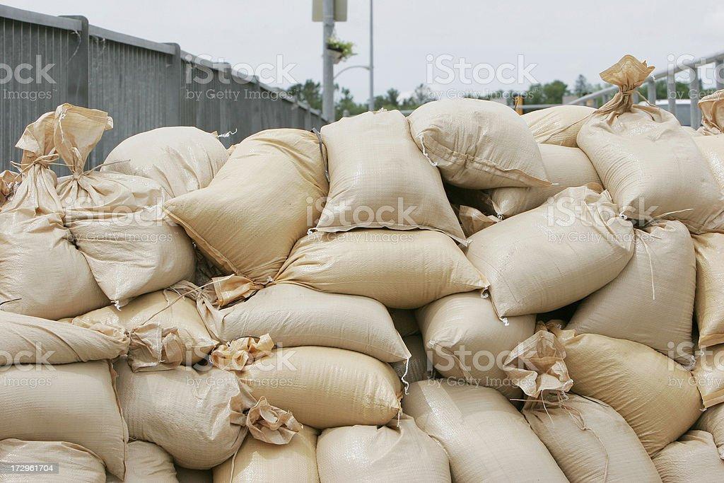 Sandbags-  Midwest Flooding 2008 royalty-free stock photo