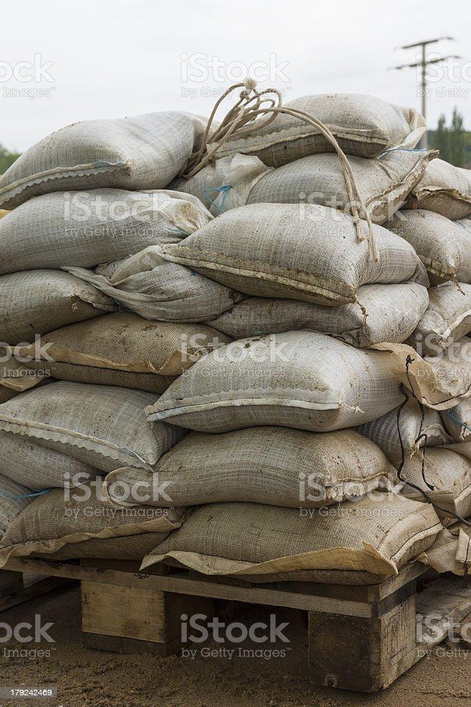 Sandbags royalty-free stock photo