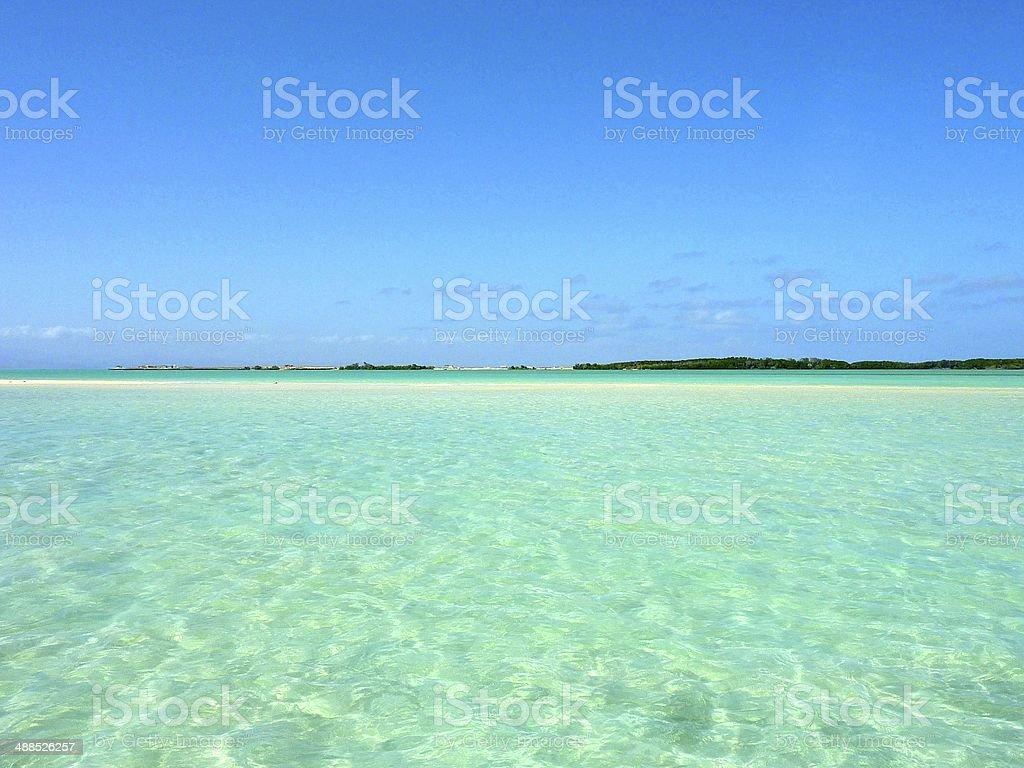 Sandbank in Djibouti royalty-free stock photo