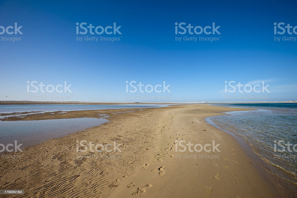 Sandbank in red sea Egypt royalty-free stock photo