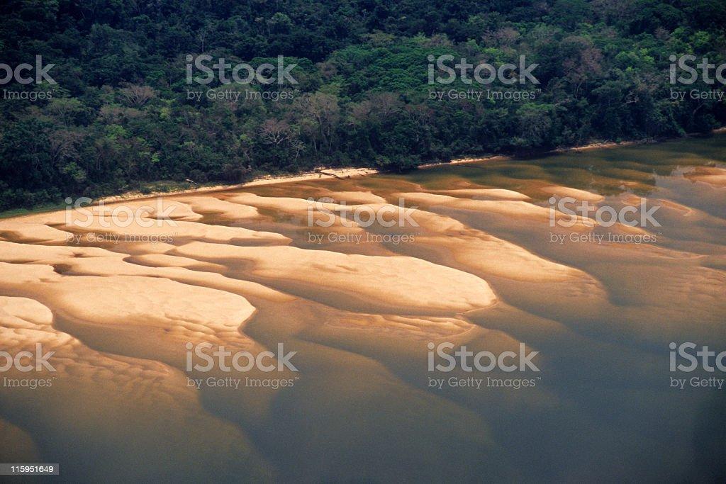 Sandbank in the Amazon stock photo