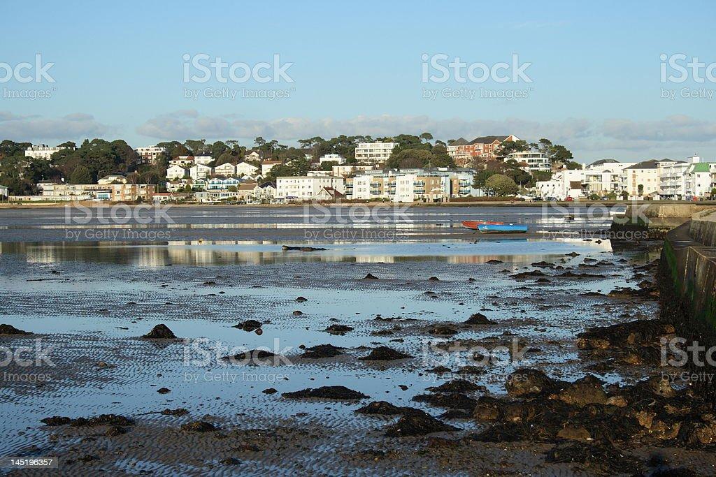 Sandbanks in Poole Dorset England. stock photo
