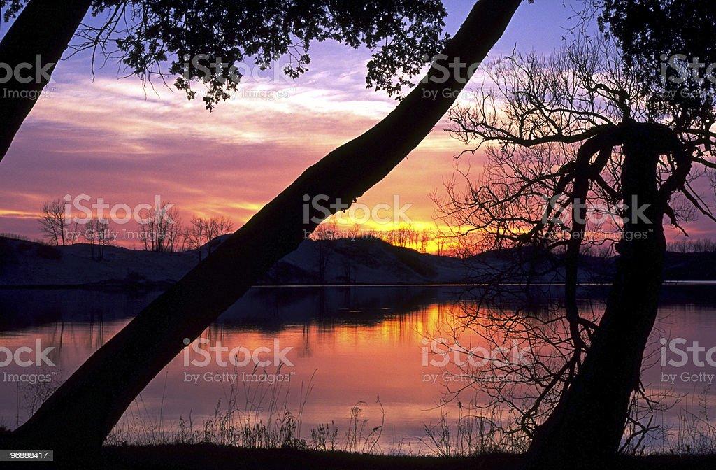 Sandbanks Sunset stock photo