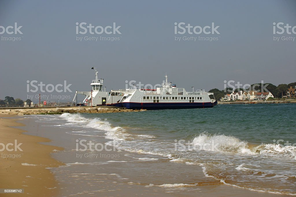 Sandbanks to Studland ferry stock photo
