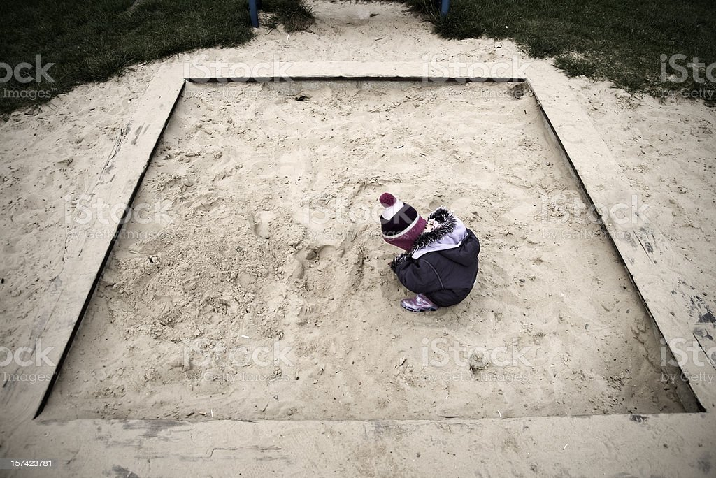 Sandbox child stock photo