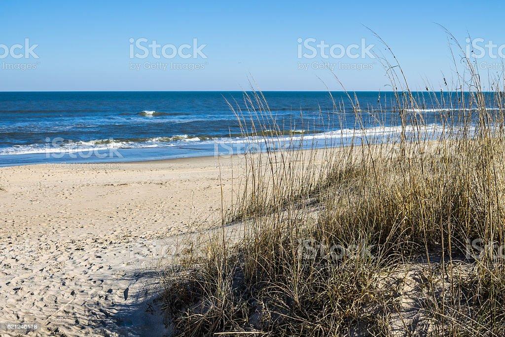 Sandbridge Beach in Virginia Beach, Virginia stock photo