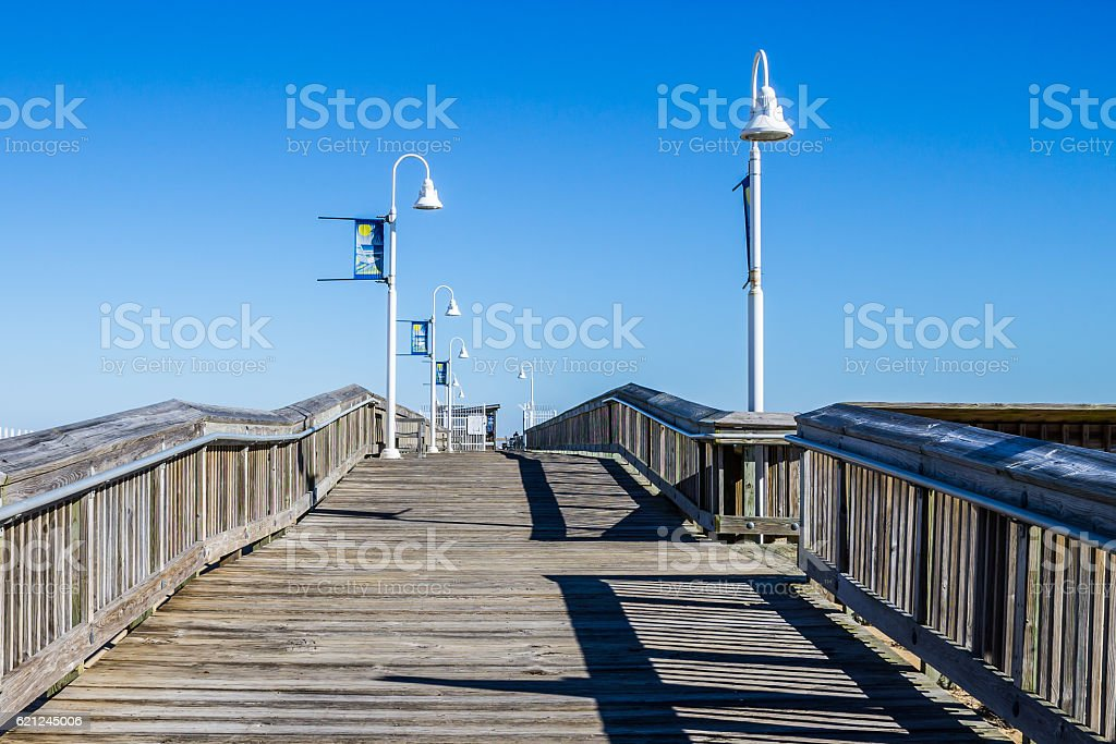 Sandbridge Fishing Pier in Virginia Beach, Virginia stock photo