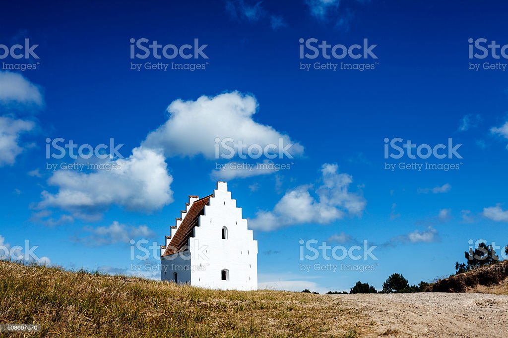 Sand-Buried Church, Skagen, Denmark stock photo