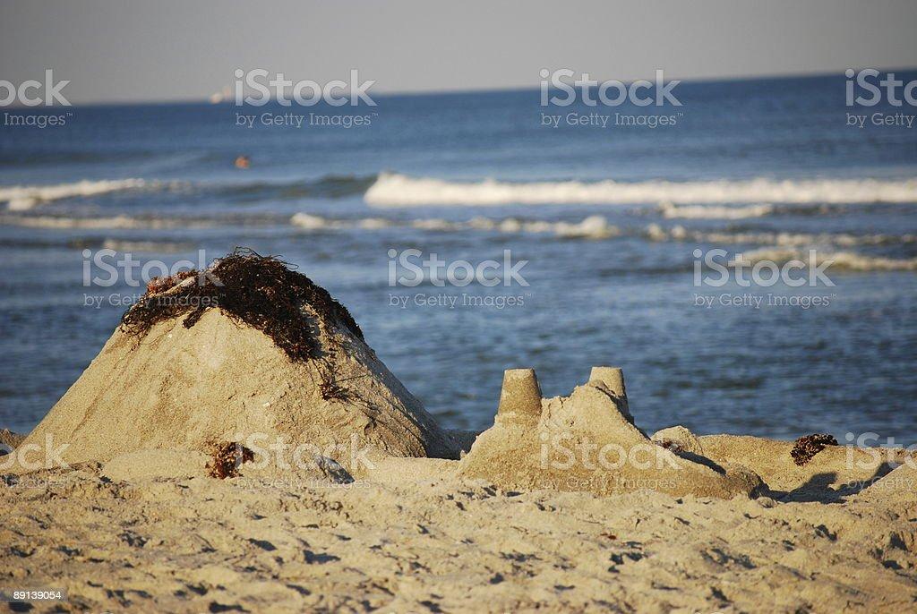 Sandcastle stock photo