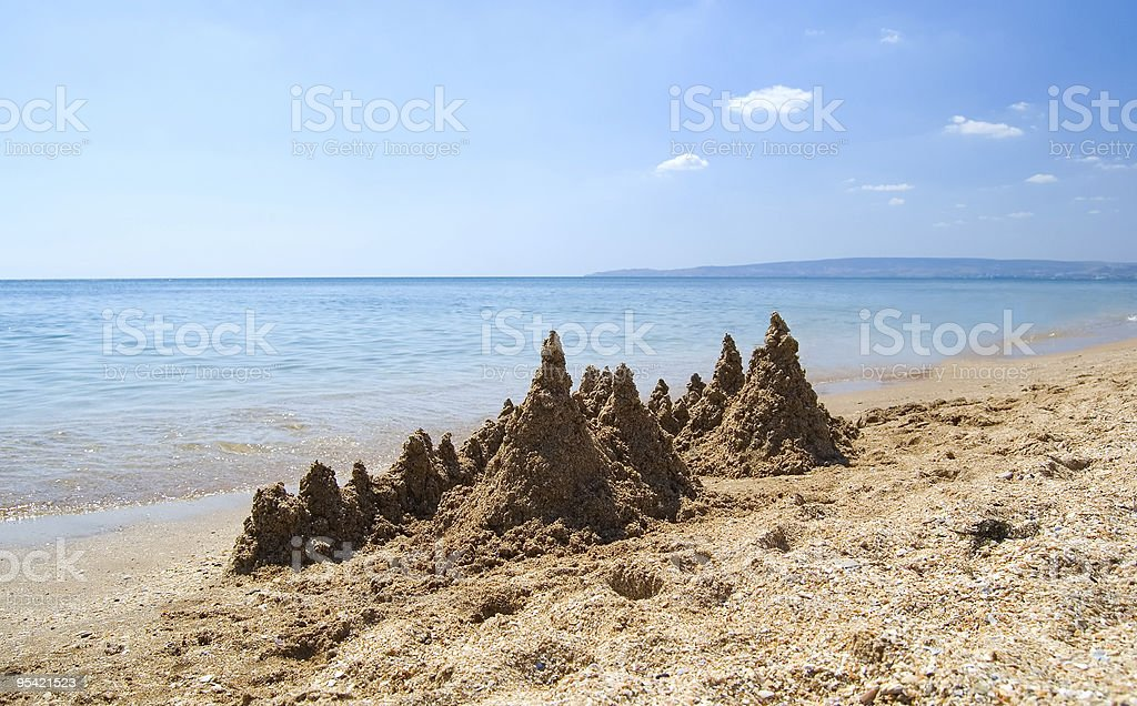 sandcastle royalty-free stock photo