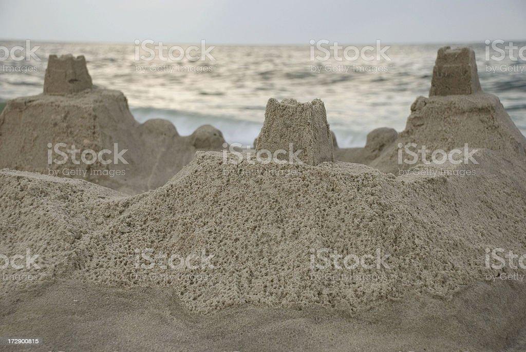 Sandcastle1_Beachfront royalty-free stock photo
