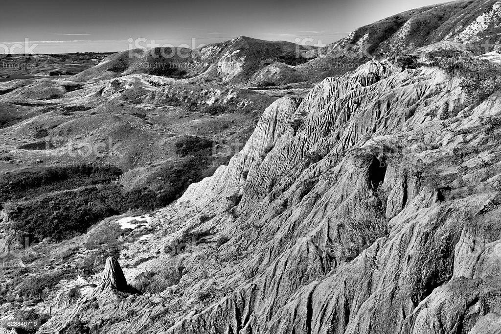 Sandcastles Lake Diefenbaker stock photo