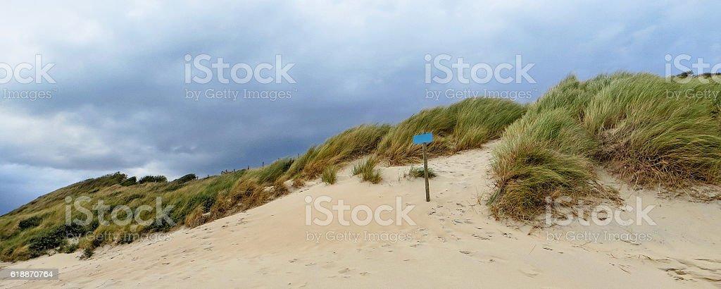 sanddune in the Netherlands stock photo