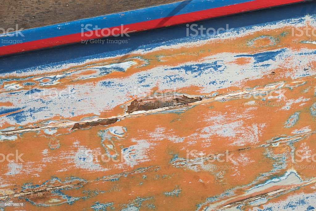 Sanded Boat side, Malta stock photo