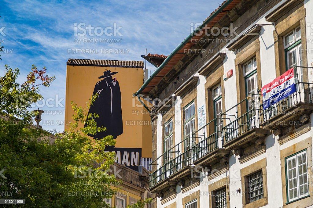 PORTO, PORTUGAL - 12 SEPTEMBER 2016: Sandeman brand stock photo