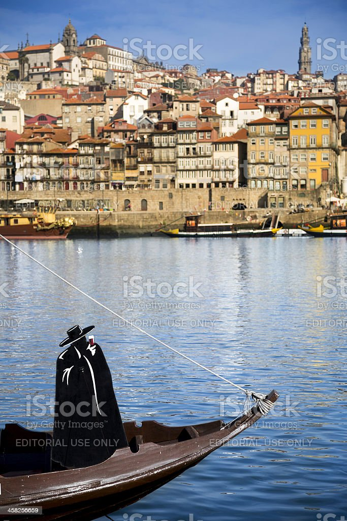 Sandeman emblem with Porto in the background stock photo