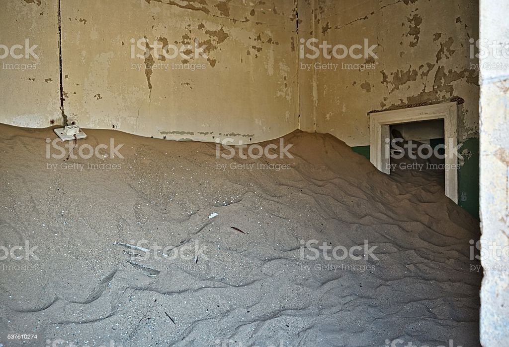 Sand-Filled Doorway stock photo