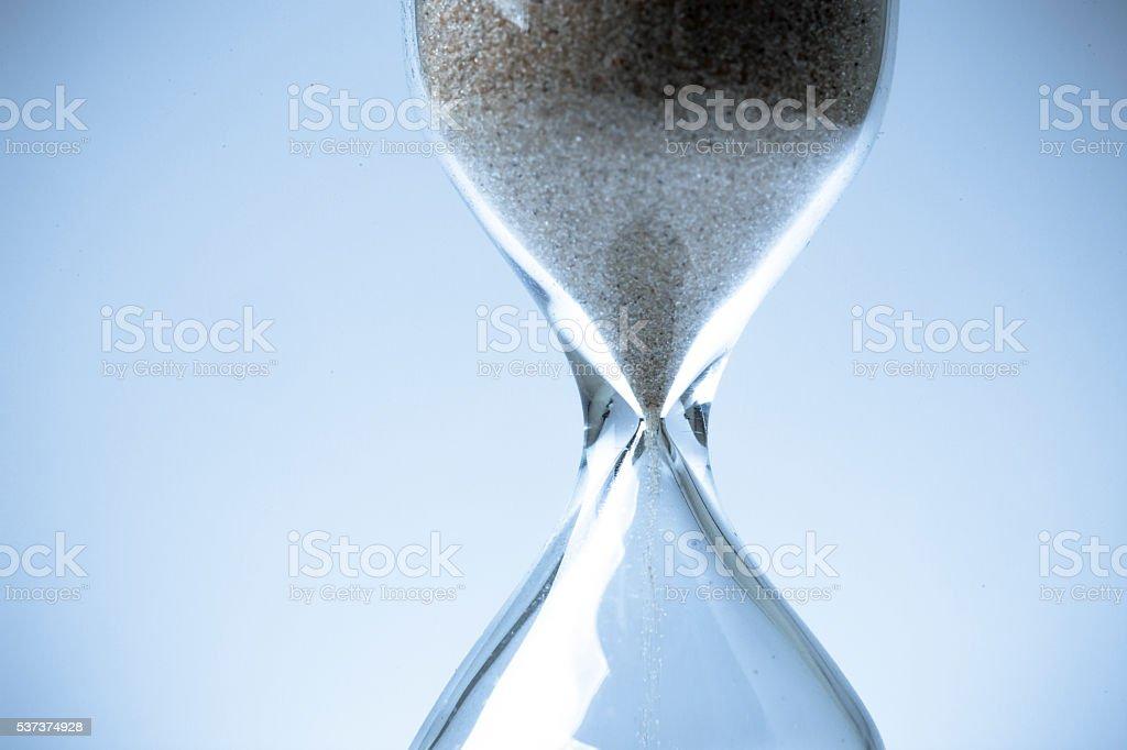 sandglass background. stock photo