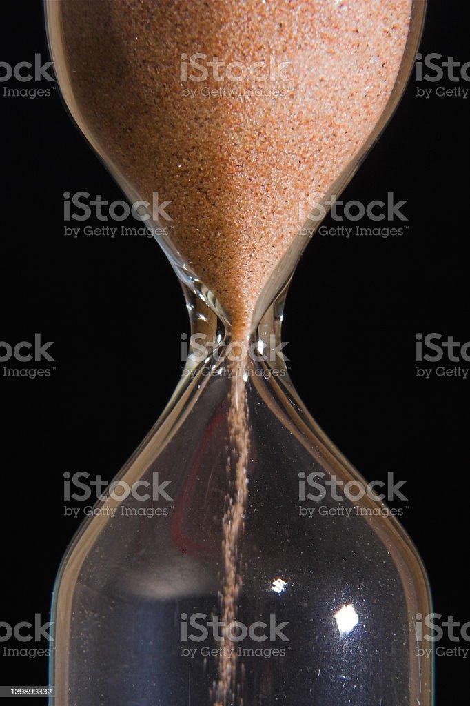 Sand-glass stock photo