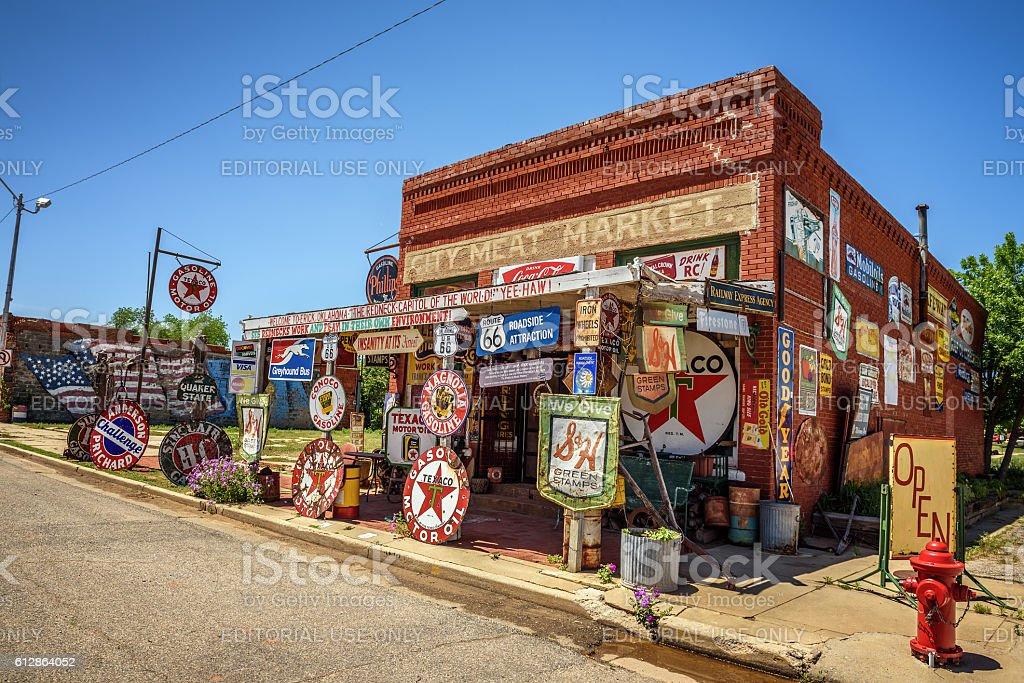 Sandhills Curiosity Shop located in Erick, Oklahoma stock photo