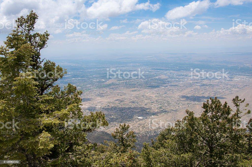Sandia Crest View stock photo