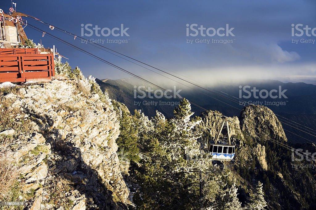 Sandia Mountains Tramway royalty-free stock photo