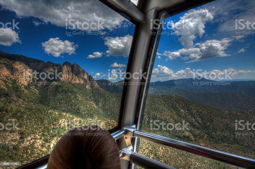 Sandia Peak Tramway Look-out stock photo