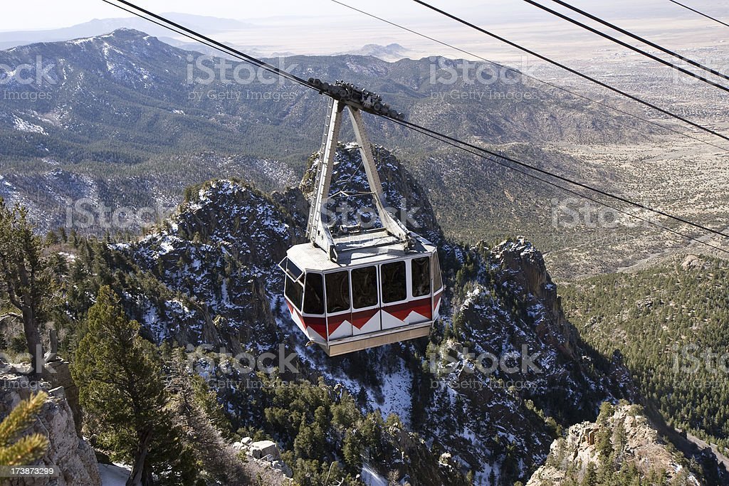 Sandia Peak Tramway (Cable Car) stock photo