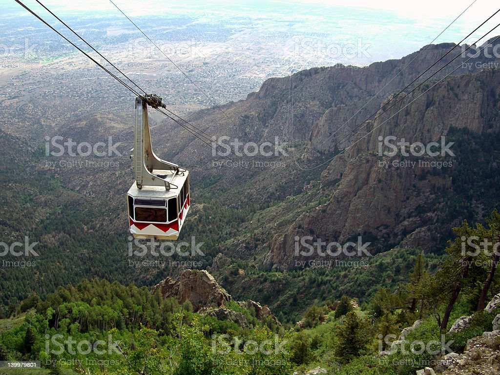 Sandia Tramway stock photo