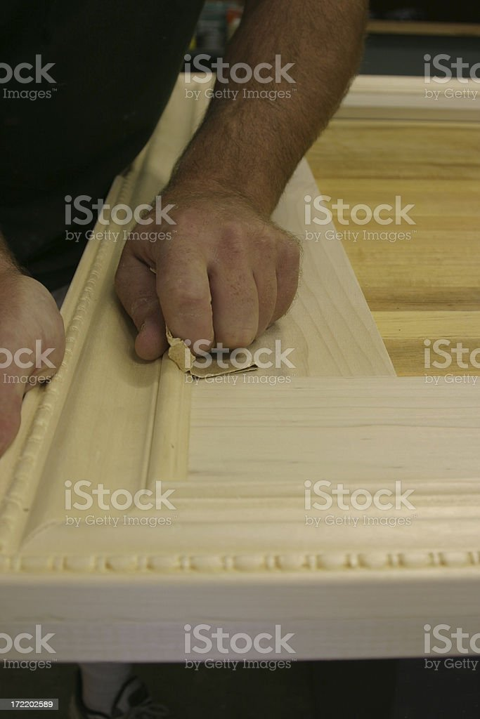 sanding stock photo