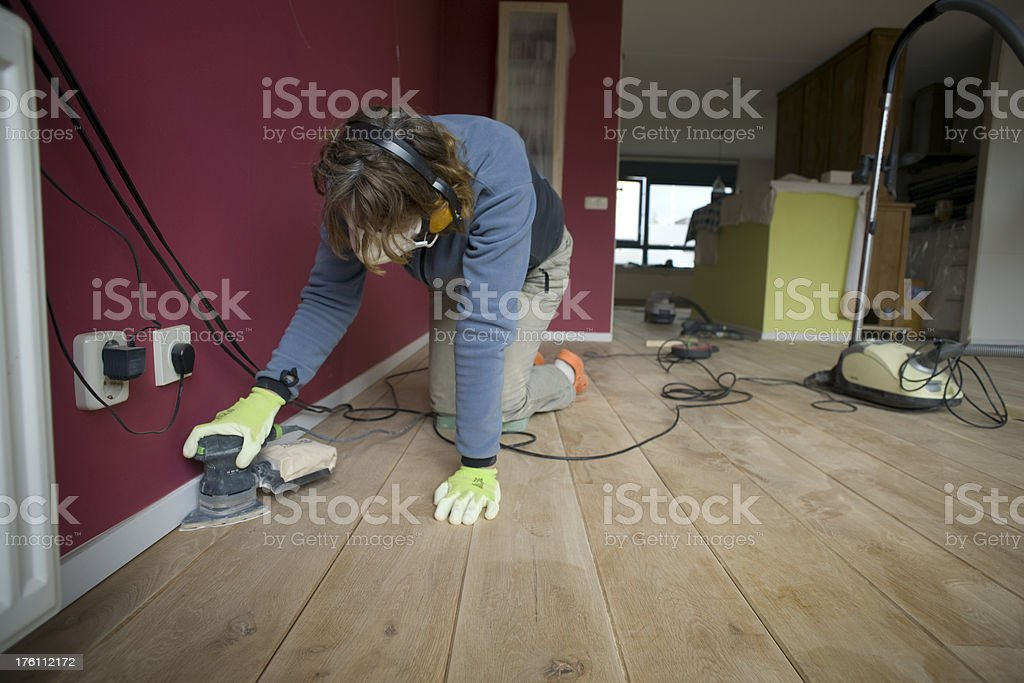 Sanding royalty-free stock photo