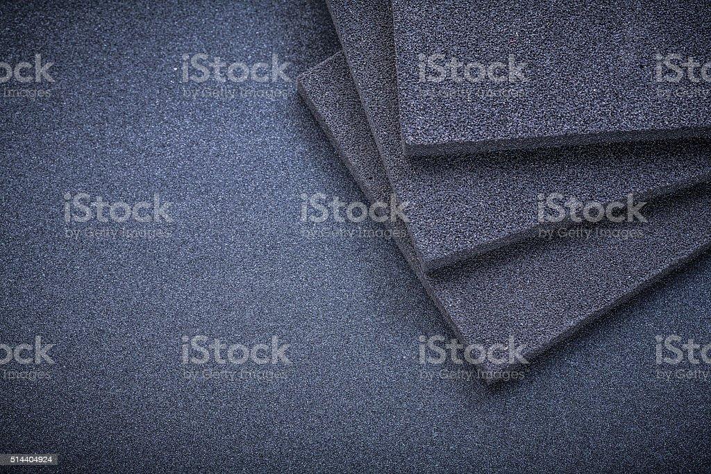 Sanding sponges on emery paper abrasive tools stock photo