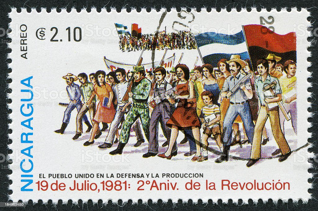 Sandinista Stamp royalty-free stock photo