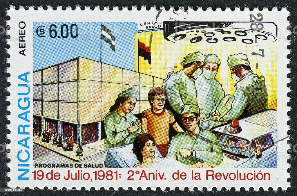 Sandinista Stamp royalty-free stock photo