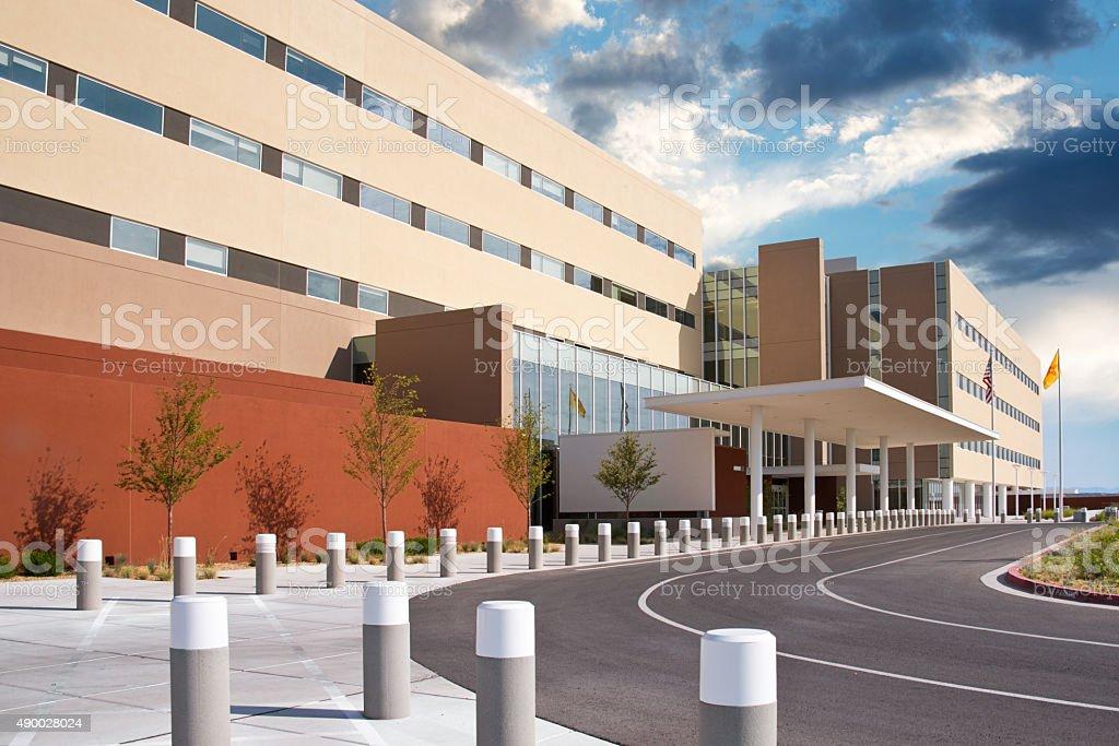 UNM Sandoval Regional Medical Center Hospital Modern Building Facade stock photo