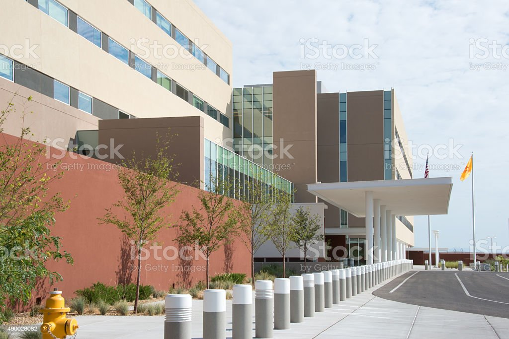 UNM Sandoval Regional Medical Center Hospital Modern Building Facade stock photo