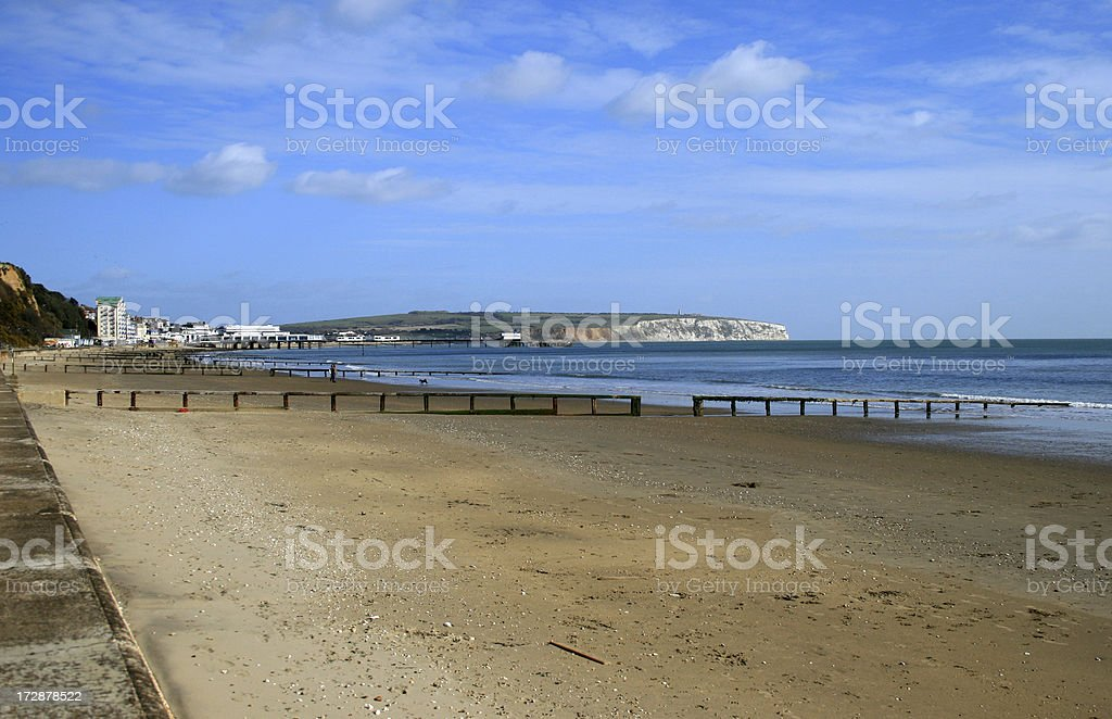 Sandown Bay on the Isle of Wight stock photo