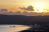 Sandown Bay, Pier and Sunset