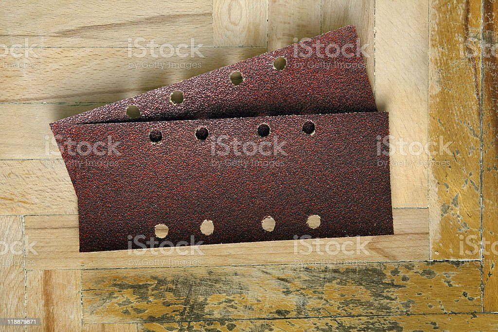 Sandpaper stock photo