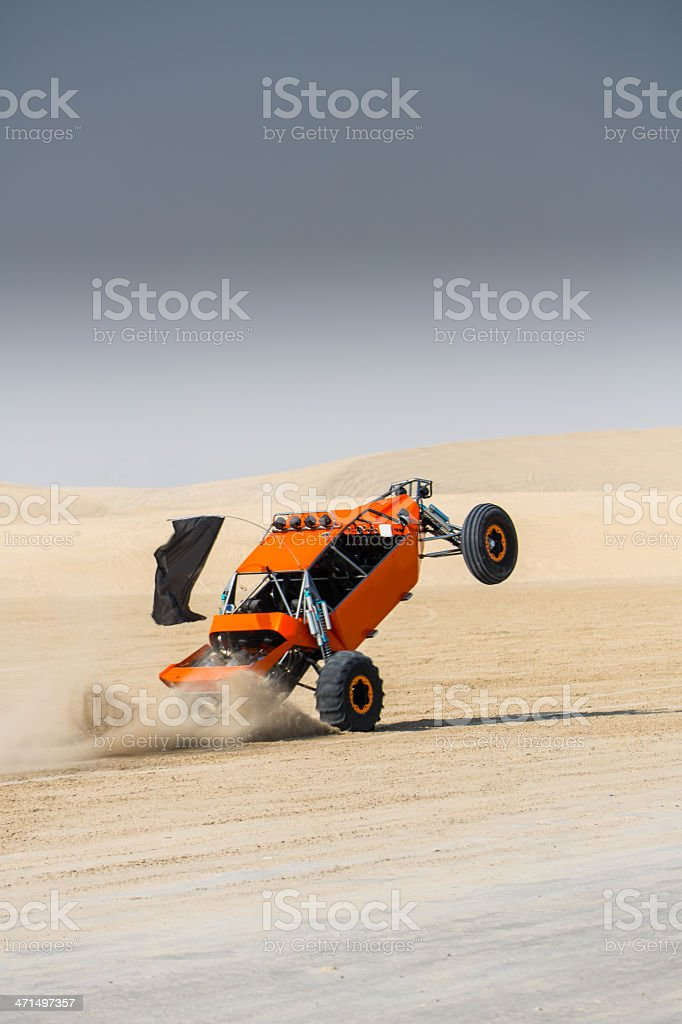 Sandrail Buggy Wheelie Action stock photo